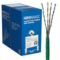 Neomax NM10111 Кабель витая пара (UTP), категория 5e, 4 пары (24 AWG), одножильный (solid), 200Mhz LSZH (Low Smoke Zero Halogen) (бухта 305м)
